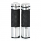 Universal Motorcycle Handle Grip - Silver + Black (2 PCS)