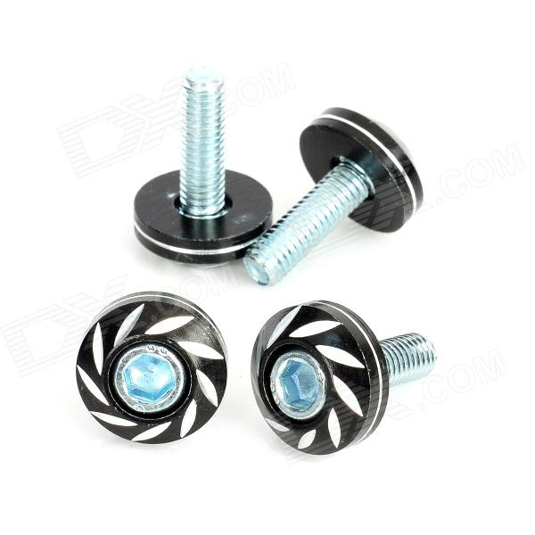 DIY 6mm Cool Motorcycle Mounting Screws - Black (4 PCS)