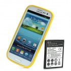 Replacement 2500mAh Battery and PVC Back Case Kit for Samsung Galaxy S3 / i9300 - Yellow
