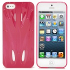 Fashion Sports Car Style Protective PC zurück Fall für iPhone 5 - Deep Pink