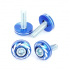 Motorcycle DIY Decoration Screws + Bolts Set - Blue + Silver (4 Set)