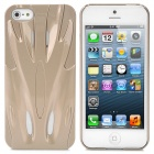 Fashion Sports Car Style Protective PC Back Case for iPhone 5 - Golden