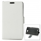 Protective Flip Cover PU Leather Case for Samsung Galaxy Note 2 N7100 - White