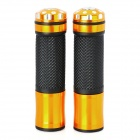 Universal Motorcycle Handle Grip - Golden + Black (2 PCS)