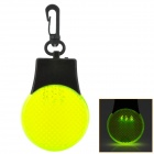 Traffic Light Pattern 3-LED White Light Flashlight Keychain w/ Hook - Black + Yellow Green (3 x AG3)