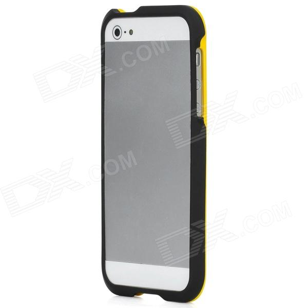Protective Plastic Bumper Frame for Iphone 5 - Yellow + Black protective plastic bumper frame for iphone 6 4 7 yellow