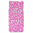 Unique Palace Flower Style Protective Plastic Back Case for Iphone 5 - Deep Pink