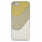 PG003 Glitter Bling Sparkle Skin Style Protective Back Case for Iphone 5 - White + Silver + Yellow