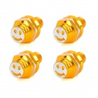 DIY 8mm Smiley Face Style Motorcycle Mounting Screws - Golden (4 PCS)