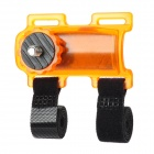 Bicycle Bike Plastic Mount Holder for Digital Camera / Mini DV - Orange + Black