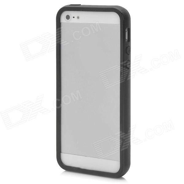 Protective Silicone Bumper Frame Case for Iphone 5 - Black