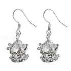 Beautiful 925 Silver Crown Earring in Gift Box