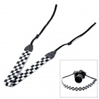 Nylon Fabric Neck / Shoulder Sling Strap for DSLR Camera - White + Black