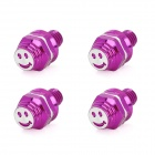 DIY 8mm Smiley Face Style Motorcycle Mounting Screws - Purple (4 PCS)