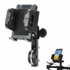 Bicycle/Motorcycle 360 Degree Rotating Mount Holder Support for GPS / Cell Phone / MP4 - Black