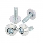 DIY 6mm Cool Motorcycle Mounting Screws - Silver (4 PCS)