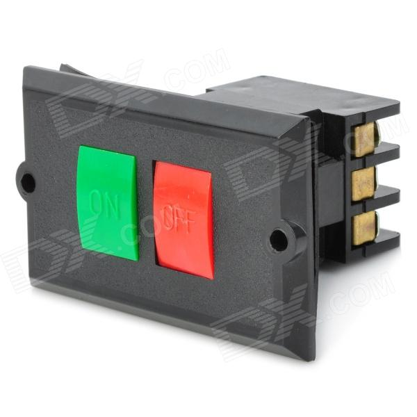 DIY 5A ON / OFF Push Buttons Switch - Black (AC 220~380V)