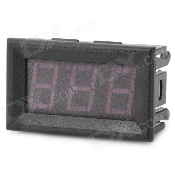 3-Digit Red LED Digital Voltage Meter (DC 0~99.9V) 4 digit red led digital amperemeter black dc 5v
