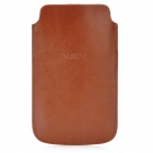 BAGUS Protective PU Leather Pouch Case for iPhone 4 / 4S / 5 - Brown