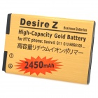 Replacement 3.7V 2450mAh Li-ion Battery Pack for HTC G11 / G12 / G6 / G8 - Golden
