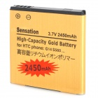 Replacement 3.7V 2450mAh Li-ion Battery Pack for HTC Sensation G14 / EVO3D G17 / G18 - Golden