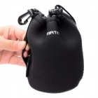 Protective Neoprene Bag Case for DSLR Camera Lens - Black (Size M)