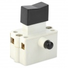 DIY 10A Push Button Switch w/ Lock - Black + White (AC 220~380V)