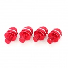 DIY 8mm Smiley Face Style Motorcycle Mounting Screws - Red (4 PCS)