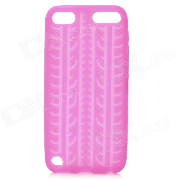 protective soft silicone back case for ipod touch 5 orange Antiskid Tread Protective Silicone Soft Back Case for Ipod Touch 5 - Deep Pink
