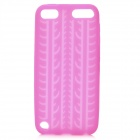 Antiskid Tread Protective Silicone Soft Back Case for Ipod Touch 5 - Deep Pink