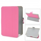 Protective PU Leather Cover Case with Holder for Kindle Fire HD - Pink