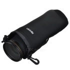 Protective Neoprene Bag Case for DSLR Camera Lens - Black (Size XL)