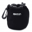Protective Neoprene Bag Case for DSLR Camera Lens - Black (Size S)
