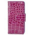 Cool Snake Skin Pattern Protective PU Leather Case for Iphone 5 - Purple