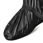 Motorcycle Waterproof Rain Boot Shoes Cover w/ Reflective Tape - Black (Size 44~45)