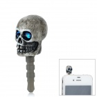 G04 Skull Style 3.5mm Anti-Dust Plug for iPhone / Samsung - Grey + Blue
