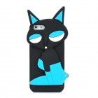 PG021 Fashion Fox Style Protective Silicone Soft Back Case for Iphone 5 - Black + Blue + White