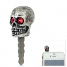 G03 Skull Style 3.5mm Anti-Dust Plug for iPhone / Samsung - Grey + Red