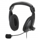 S750 Headphones w/ Microphone - Black (3.5mm Plug / 183cm)