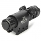 Green Laser Rifle Scope w/ Gun Mount - Black (1 x CR123)