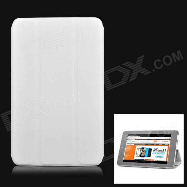Protective PU Leather Case Cover Stand for Ipad MINI - White