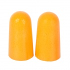 3M 1100 Bullet Style Soft Anti-Noise Ear Plugs - Orange (Pair)