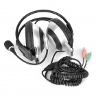 Dicsong CD-870MV Headphones w/ Microphone - Silver + Black (3.5mm Plug / 320cm)