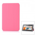 Protective PU Leather Case Cover Stand for Ipad MINI - Pink