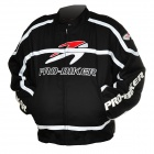 Pro-biker JK-05 Professional Polyester Motorcycle Riding Race Jacket - Black + White (Size XL)