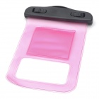 Protective Waterproof Pouch w/ Armband + Strap for Iphone 4S / 5 - Pink