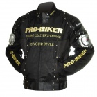 Pro-байкер JK-02 Профессиональные Полиэстер мотоцикле Jacket - Black + Silver + Golden (размер XL)