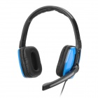 HYUNDAI CJC-913MV Headphones w/ Microphone - Blue + Black (3.5mm Plug / 206cm)