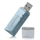 AES Encryption USB Secure Key - Slate Gray + Silver