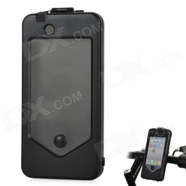 Bike / Motorcycle Plastic Mount Holder Protective Case for Iphone 4 / 4S - Black